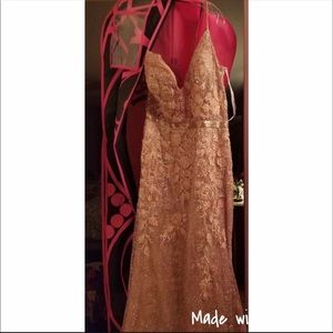 Jovani Rose Gold Dress